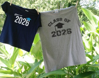 Custom Class Of - Youth First Day of school shirt and Adult Shirt for Pics throughout the years - Y5 A4