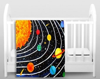 Solar system decor on etsy a global handmade and vintage for Solar system fleece fabric