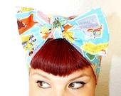 SALE!!!! Vintage Inspired Head Scarf, Travel, United States, Rockabilly, Retro