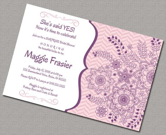Surprise Wedding Invitation Wording: Surprise Bridal Shower Invitations Invite Peach By