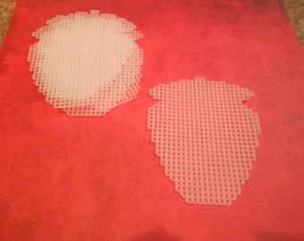 plastic canvas straberry cutouts (set of 5)