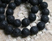 25pcs Lava Rock  Natural Gemstone Beads 16mm  Round 16 Inches Strand