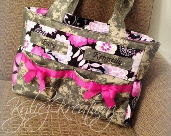Large Military Camo Diaper bag- Made to order! Any Branch!