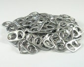 100 pop tabs shipped from Europe - soda tabs, pull tabs, pop can tabs, pop tops, ring pulls