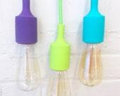 Industrial POP Lighting Hanging Vintage Style Edison Bulb Light Decor Accent Pendant Cord