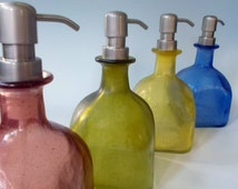 LARGE Upcycled Eco-Friendly Patron Tequila Soap Dispenser Repurposed Glass Bottle