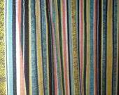 Mid Century Modern Fabric Vivid Stripe 1950s Vintage Fabric 7 yards long 47 inches wide for Drapes or Upholstery