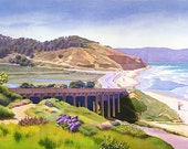 View of Torrey Pines California by Mary Helmreich