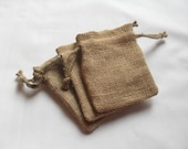 """75 Burlap bags 5"""" X 7"""" for candles handmade soap jewelry supplies wedding rustic"""
