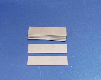 Aluminum rectangles -1/2 x 1 1/2 //22 Gauge//24 Gauge//Metal Blanks//Hand stamping Blanks//momsworklab//Stamping blanks