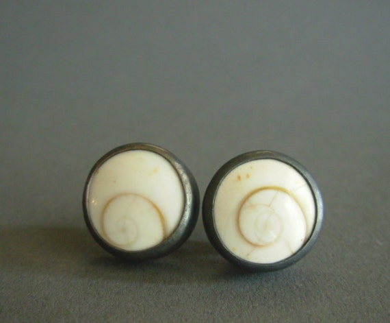 READY TO SHIP Operculum Ear Studs - Nocturnal Mermaid