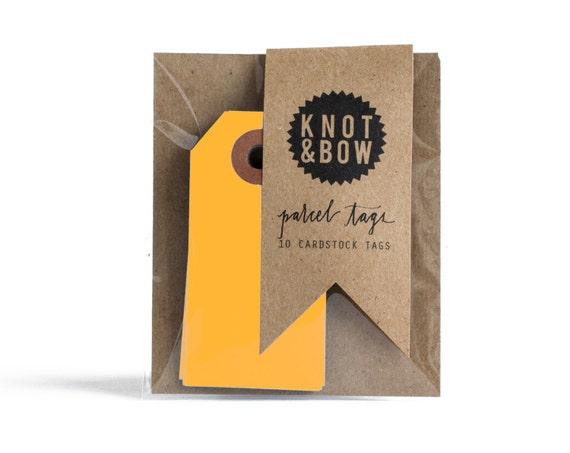 Neon Orange Parcel Gift Tags / Set of 10