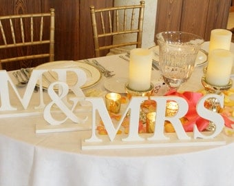 Mr and Mrs Sign for Wedding - Decor, Wedding Sign Sweetheart Table - Mr & Mrs Table Sign ( Item - MB100 )