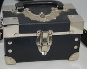 Box Style Purse with Bat on top