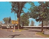 Michigan Postcard Retro Motel - Lone Pine Motel Clare MI Vintage Postcard - Collectible Card Michigan