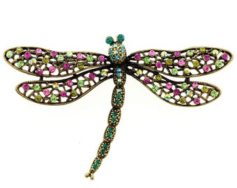 Multicolor Dragonfly Pin Brooch And Pendant 1010042