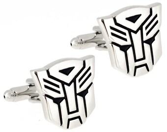 Silver Autobot Transformer Cufflinks 1200412