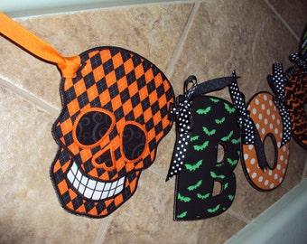 Halloween Skull Boo Banner