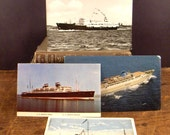 Vintage Postcards Ocean Liners Steamer Ships Collection of Four - epsteam vestiesteam thebestvintage