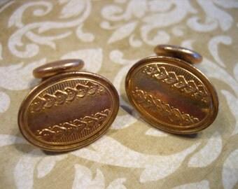 Victorian Art Deco Gold Filled Decorative Cufflinks