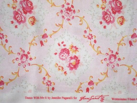 Jennifer Paganelli Kayla pink Dance with Me Sis Boom fabric FQ or yardage