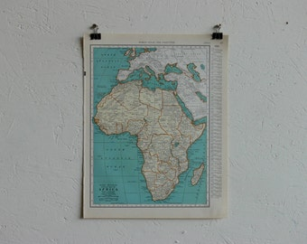 Vintage Map-Africa-Early 20th Century