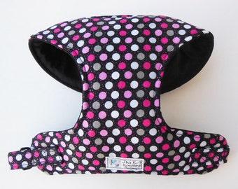 Polka Dot Comfort Soft Dog Harness. - Made to Order -