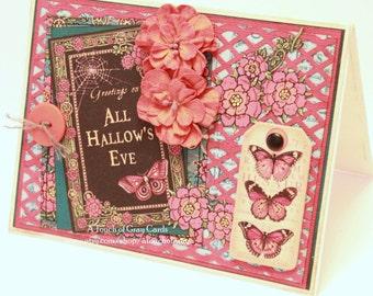 Halloween Card - All Hallow's Eve - Handmade Halloween Greeting Card
