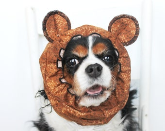 Bear Ears Dog Snood - Stay-Put 3 Rows Elastic Thread - Pet Hat - Long ear covering - Specialty Snood