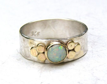 White opal Ring, Promise Rings, Engagement Ring ,anniversary gift, Gift for her ,silver ring ,Opal ring, Soltaire Ring