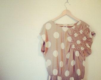 Silk polka dot dress by WHIT