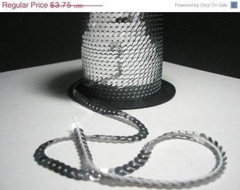 CLEARANCE SALE SILVER Single Strand Sequins for Basketball Wives Inspired Billionaire Earrings - 5 yards