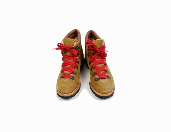Amazing  Lace Up Hiking Boots With Red Laces  Men39s Sz 65  Women39s Sz 8