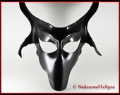 Black Baphomet Goat Leather Mask Left Hand Path Satanic Art Devil Lucifer Halloween Creepy Cosplay Costume Masquerade Fetish Ball UNISEX