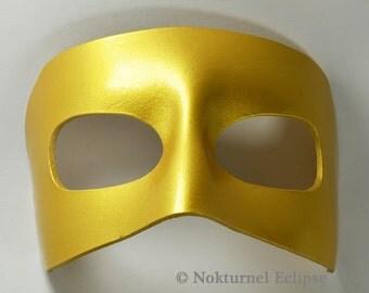 Gold Venetian Leather Mask Mardi Gras Masquerade Fetish Ball Goddess Superhero Cosplay  Halloween Costume UNISEX