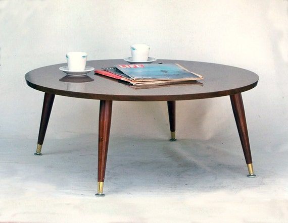 Large Round Mid Century Modern Coffee Table Very By Leapinglemming