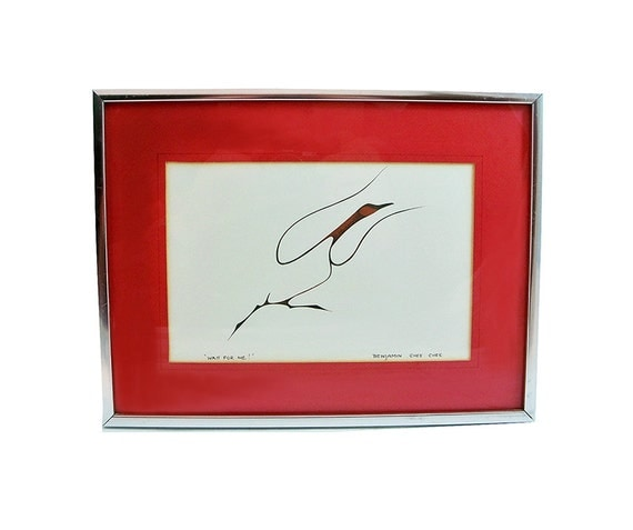 Benjamin Chee Chee Signed Print Canada Goose Wait