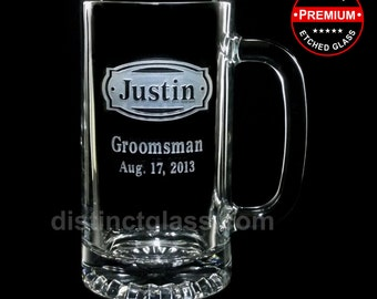 Gifts for GROOM - BUCKLEHEAD Wedding BEER Mugs - Personalized Grooms Gifts Beer Mug for Grooms Gifts for Groomsmen - Ships to Canada