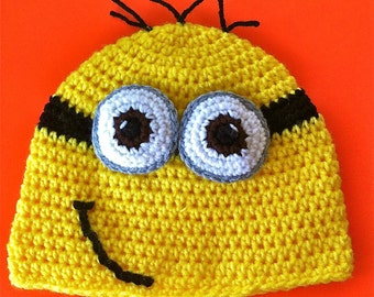 Despicable Me Inspired Hat - 2 Eye'd Minion