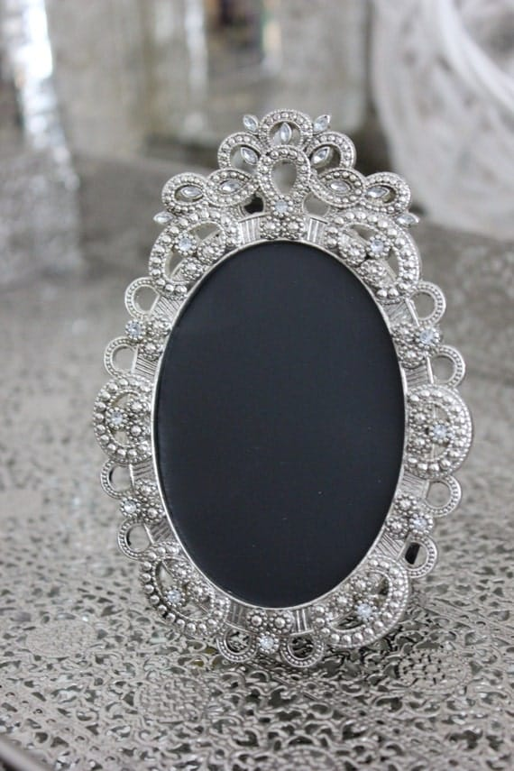 Items Similar To Vintage Style Oval Jeweled Rhinestone