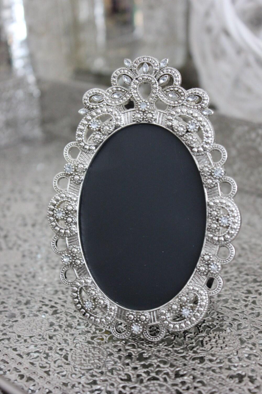Sale Set Of 13 Vintage Style Oval Jeweled Rhinestone Frames