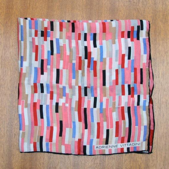 Vintage 90s Adrienne Vittadini Silk Scarf