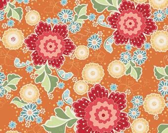 Riley Blake Flutter Cottons Orange Main Fabric 1 yard