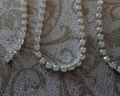 2mm White Opal Rhinestone Chain - Silver Plated Setting - Preciosa Czech Crystals