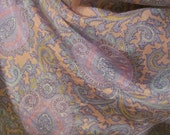 Beautiful Pink Blue Paisley Sacha Silk Scarf  - 31 x 31 Square - Best of the Best