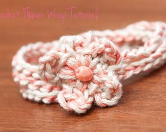 CROCHET PATTERN- Crochet Wrap Bracelet Pattern, Crochet Necklace Tutorial, Crochet Flower Pattern- Instant Digital Download (9)