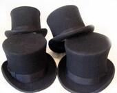 Imperfect 100-percent Wool Gentlemens Top Hats - SMALL (56cm) and MEDIUM (58cm)