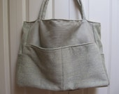 Charlotte:  50% Off Upholstery Fabric Project Bag, Travel Tote, Extra Large, Knitting, Needlepoint, Gift