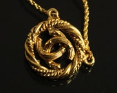 Vintage CHANEL Gold Logo Necklace Jewelry Jewellery Chain Express Shipping 1990 - 1992