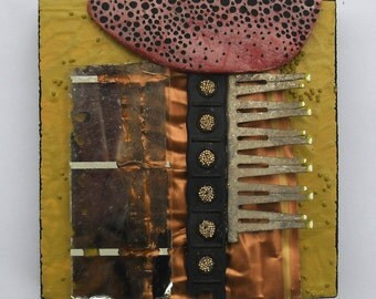 Growth: found object assemblage